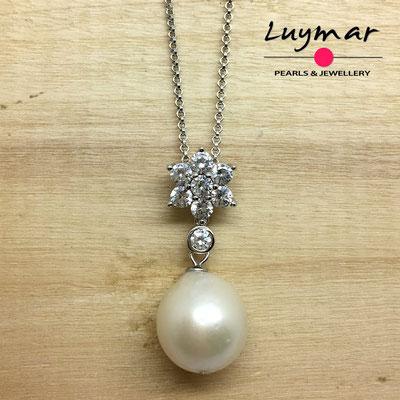 C35242 colgante plata y perlas cultivadas Luymar