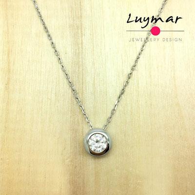 ADC1 colgante y cadena plata Luymar