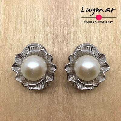 A35226 Pendientes plata omega Luymar