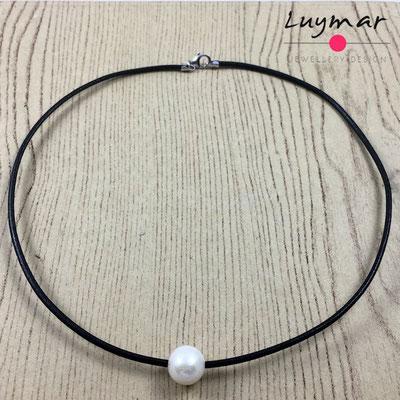 C-6-NEGRO cuero perla Luymar