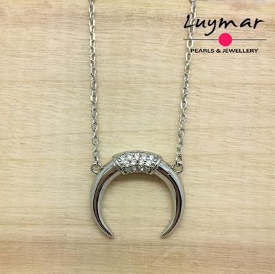 CB045   colgante plata cuerno   Luymar