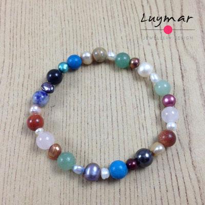 PUL-3-MIXTA pulsera perlas cultivadas Luymar