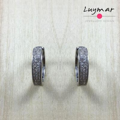 AD1752  Pendientes plata circonitas Luymar