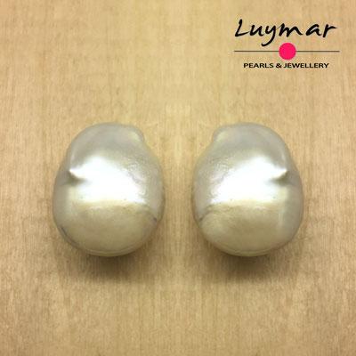 PP-30 Pendientes con perlas cultivadas Keshi Luymar