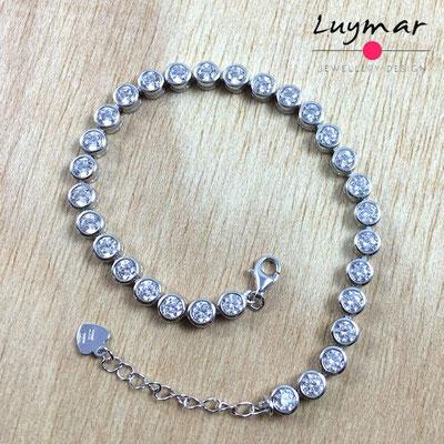 PC3024 pulsera plata Luymar con circonitas