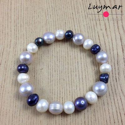PUL-6-GRISES pulsera perlas cultivadas Luymar