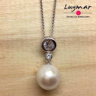 C35246 colgante plata y perlas cultivadas Luymar