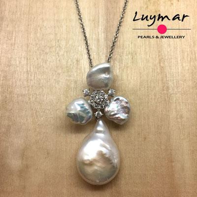 C35157 Colgante con perlas cultivadas keshi Luymar