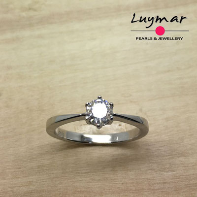 S35173   Sortija plata circonitas 5A Luymar