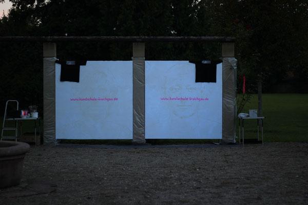 Kunstschule Kraichgau goes NEON 2013- 2x2 Meter große Selbstporträts