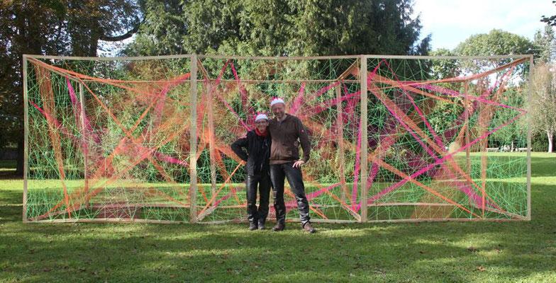 3D-Grafik Kunstschule Kraichgau Neonprojekt 2017 die Erbauer