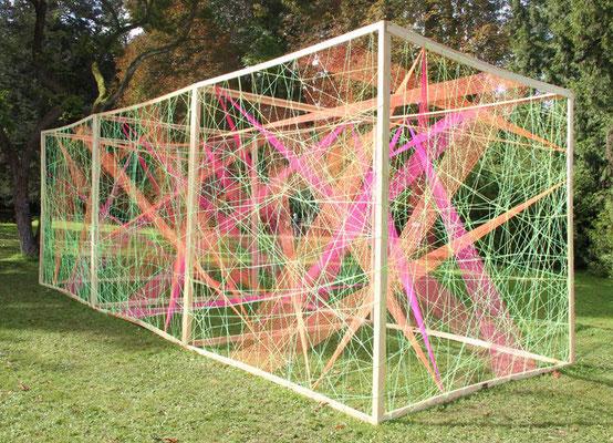 3D-Grafik Kunstschule Kraichgau Neonprojekt 2017 bei Tag
