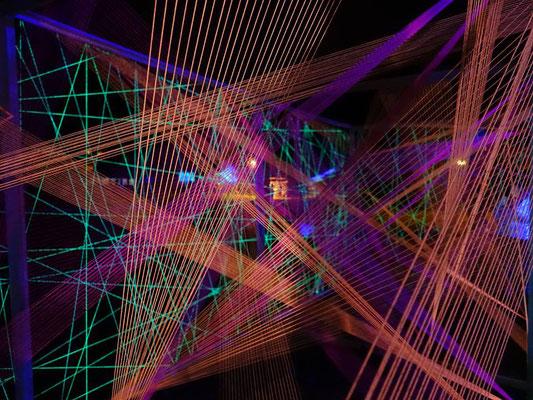 3D-Grafik Kunstschule Kraichgau Neonprojekt 2017 Detail