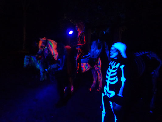 Neon-feuerpferd und Neon-todpferd