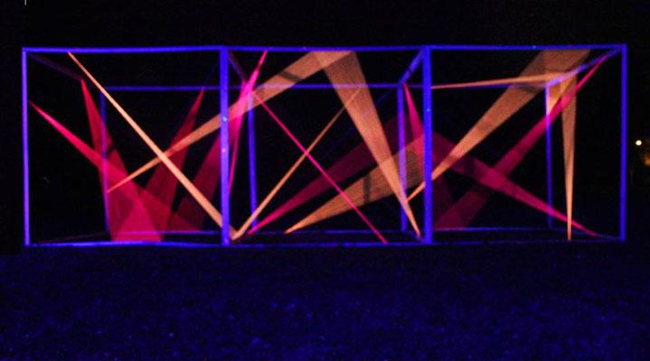 3D-Grafik Kunstschule Kraichgau Neonprojekt 2017 am Ende des 1. Abends
