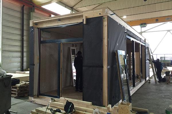 Die Wohnbox im Bau