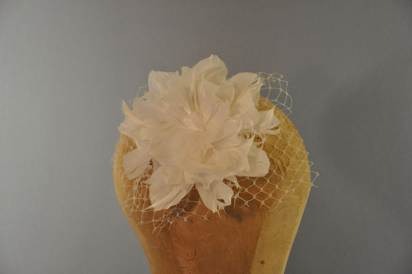 Federblüte mit Schleier auf einem Kamm