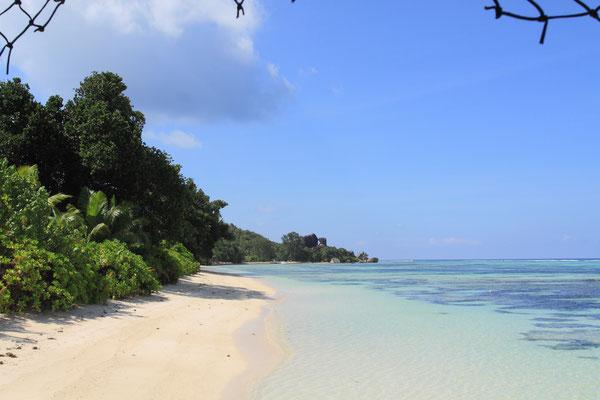 Zusammen mit dem Strand Anse La Source d`Argent bilden sie die Hauptkulisse für jeden Werbeprospekt der Seychellen.
