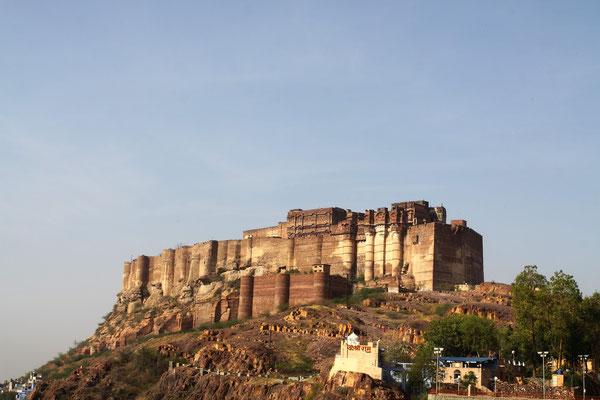 Hauptattraktion von Jodhpur ist natürlich das Meherangarh-Fort an der blauen Stadt.