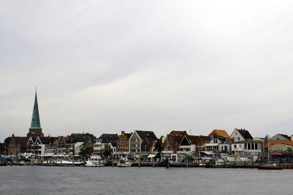 die Altstadt vom der Priwallhalbinsel