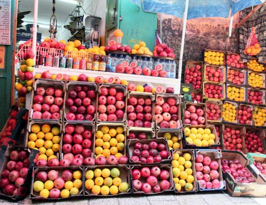 Ein Muss jeden Tag ist der frisch gepresste Granatapfelsaft, der überall erhältlich ist.