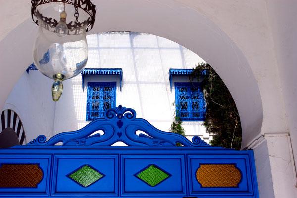 Understatement nach außen im Palast Ennejma Ezzahra
