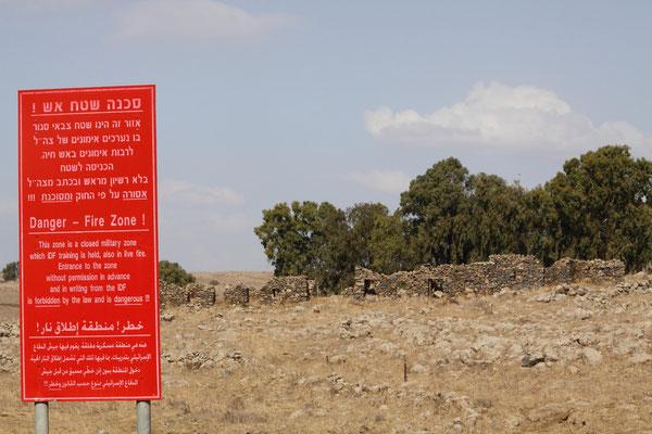 Ständige Präsenz von Panzerabteilungen zeigen die Angst Israels vor einer Wiederholung der damaligen Ereignisse.