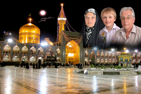 Der heilige Bezirk des Imam Reza in Mashhad, tief im Osten des Landes am Länderdreieck Turkmenistan und Afghanistan. Hier befindet sich das größte Heiligtum der Schiiten, das Grab des 8. Imams aus dem Jahr 818.