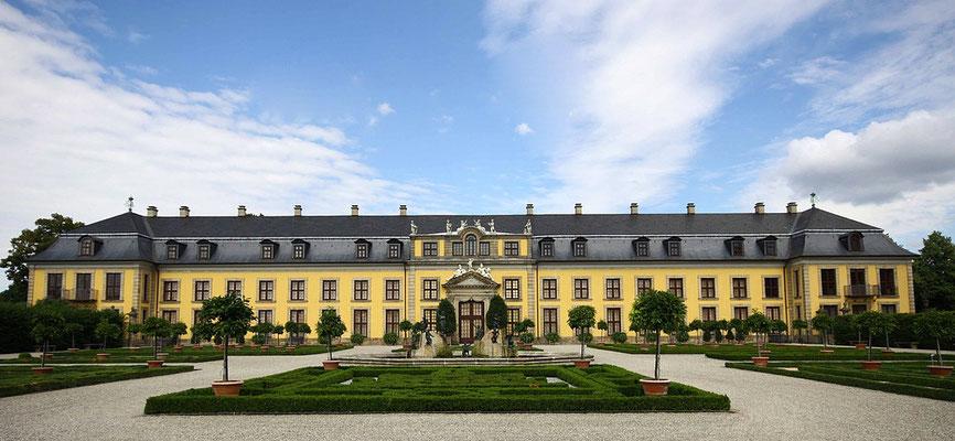 Das Herrenhäuser Schloß ca. 1670 erbaut und später erweitert unter Herzog Ernst August anlässlich seiner Ernennung zum Kurfürsten von Braunschweig-Lüneburg