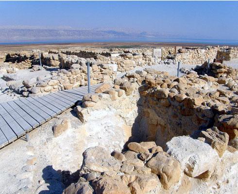 Qumran an der Küste des Toten Meeres, 20 km von Jericho im Westjordanland