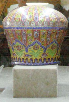 Eine der dortigen Kostbarkeiten ist die Krone von Agha Khan.
