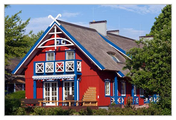 Historische Häuser im Fischer- und Künstlerdorf Nidden