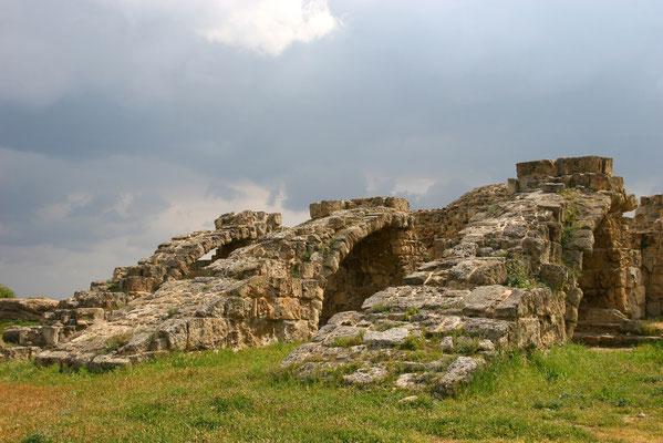 Salamis im türkischen Teil 8 km von Famagusta: Ruinen einer großen Stadt aus der Zeit um 800 v. Chr.