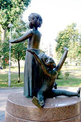 Denkmal von Babyn Jar zur Erinnerung an die von den deutschen Besatzern ermordeten jüdischen Kinder.