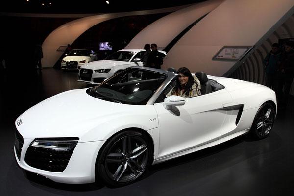 Ein Traum in weiß, der Audi R8 Spyder.