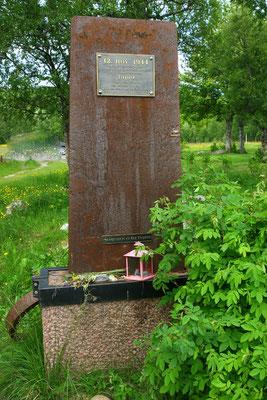 kleines privates Denkmal erinnert an den Untergang