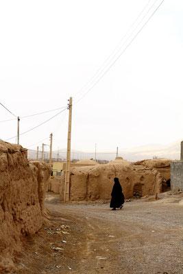 Kleines Dorf im Wüstengebiet