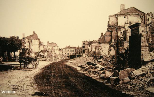 Verdun nach zahllosen Angriffen