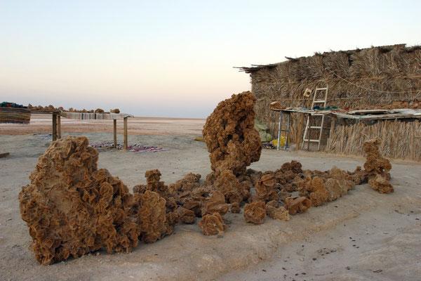 Salzkristalle am Salzsee Chott El Djerid