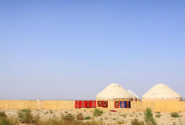 Touristische Infrastruktur sucht man in Moynak vergebens. Es gibt keine regulären Übernachtungsmöglichkeiten mehr.