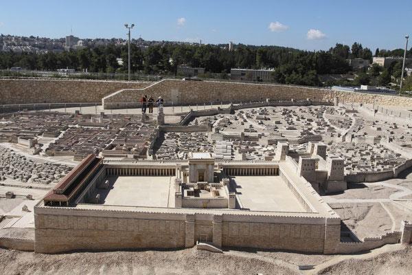 Interessant auch im Israel-Museum der Nachbau Jerusalems zu Zeiten Christi.
