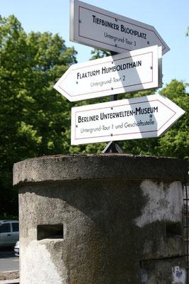 Eingang zur Berliner Bunkerwelt