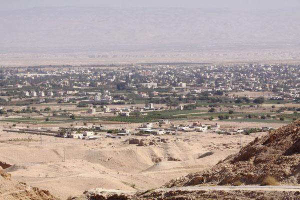Blick vom Berg der Versuchung auf Jericho