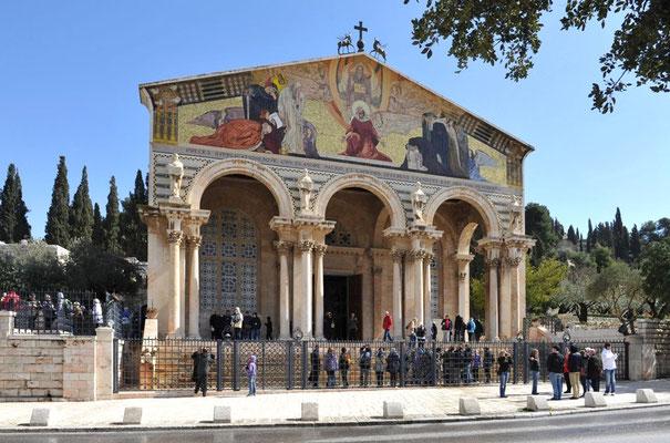 """Kirche der Nationen am Garten Gethsemane, auch """"Todesangstbasilika"""""""