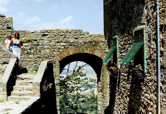 Einige der etruskischen Nekropolen und mittelalterlichen Kirchenmauern sind jedoch in der Vergangenheit der Erosion zum Opfer gefallen