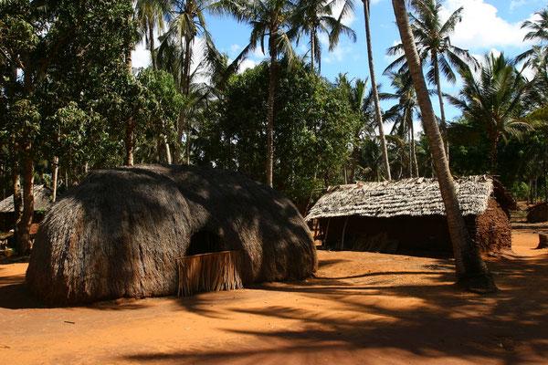 Auf den Plantagen findet man noch traditionelle Dörfer und ursprüngliches Afrika