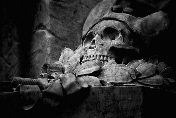 Der Narr: Teil des Standbilds Shakespeares