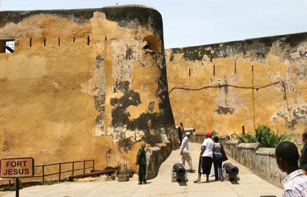 Fort Jesus am Ende der Altstadt im Süden, 1596 von den Portugiesen erbaut