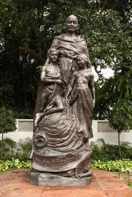 Was wäre ein Besuch Delhis ohne einen Abstecher auf den Spuren Mahatma Ghandis