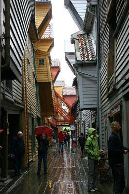 einer der historischen Gänge in Bryggen